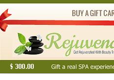 Rejuvena Beauty Gift Card $ 300.00